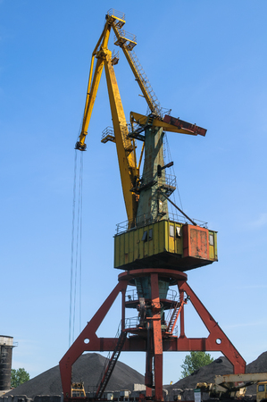Old port crane photo