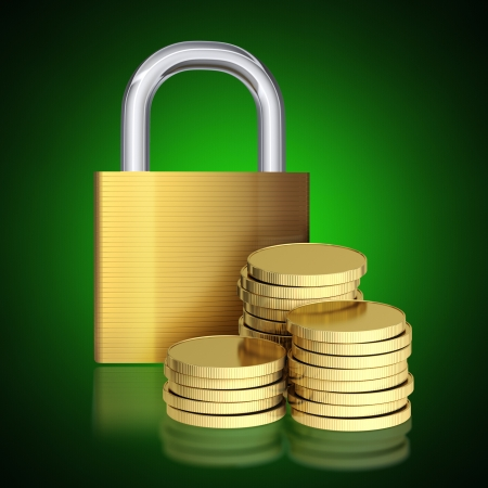 Money is protected, the concept of a financial security photo