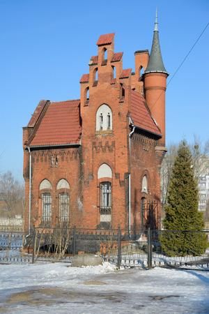 baron: Home of Baron Munchausen in Kaliningrad  Russia Stock Photo