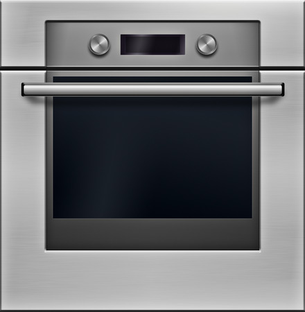 gas stove: The modern electrical oven - high detailed realistic illustration