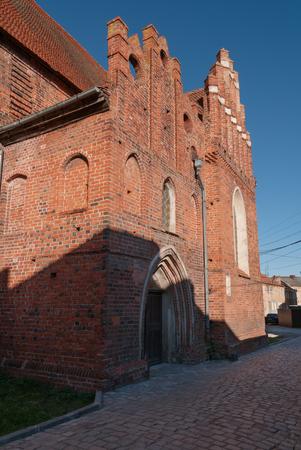 earlier: Church of St. George in Pravdinsk (earlier Friedland). Kaliningrad region, Russia Editorial