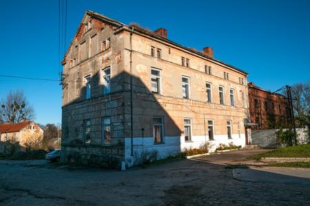 earlier: Street of Pravdinsk  earlier Friedland   Kaliningrad region, Russia Editorial