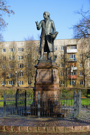 immanuel: Monument of Immanuel Kant, German philosopher, founder of German classical philosophy