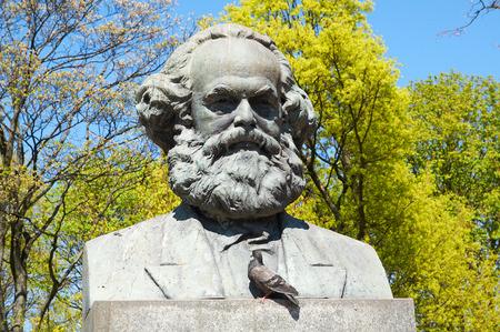 Statue of Karl Marx in Kaliningrad  Russia Editorial