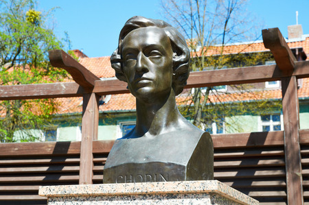 chopin heritage: Frederic Chopin Monument in Kaliningrad  Russia Editorial