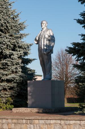 lenin: Statue of Lenin  Pravdinsk  earlier Friedland   Kaliningrad region, Russia Editorial