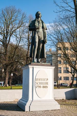 friedrich: Monument to Friedrich Schiller in Kaliningrad  Russia