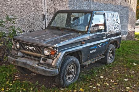 abandoned car: Old abandoned car