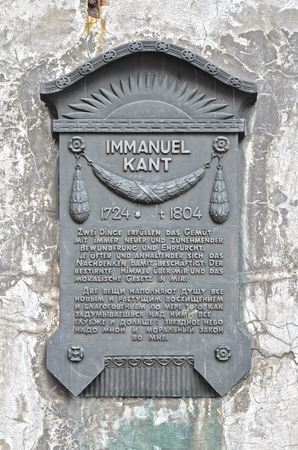 immanuel: A plaque in honor of the German philosopher Immanuel Kant  Kaliningrad