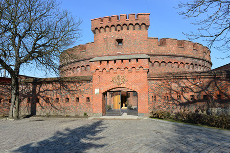 KALININGRAD, RUSSIA - FEB 24, 2014: Amber Museum - located in the German defensive tower Der Dona