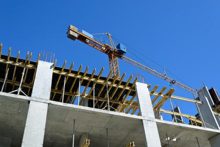 strut: Construction site with crane