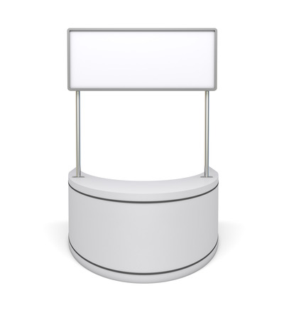 Template promotion kiosk - 3d rendering on white background photo
