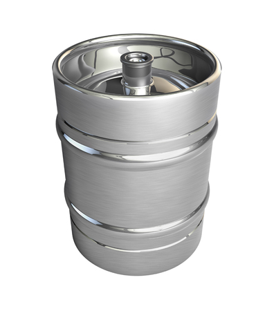 Metal beer keg - 3d illustration, isolated illustration