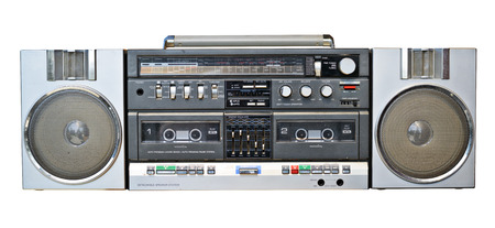 boom box: Cassette tape player