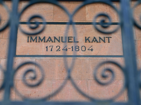 immanuel: KALININGRAD, RUSSIA - APRIL 21, 2014   Tomb of the famous German philosopher Immanuel Kant in Kenigsberg cathedral