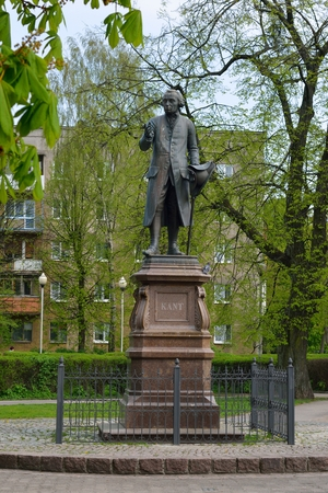 immanuel: KALININGRAD, RUSSIA - APRIL 21, 2014   Monument of Immanuel Kant, German philosopher, founder of German classical philosophy on july 20, 2013 in Kaliningrad, Russia