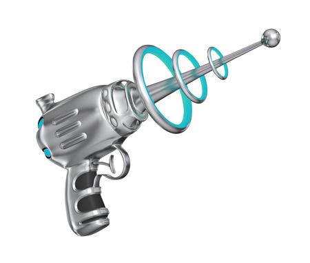 vintage gun: Science fiction gun - isolated on white background