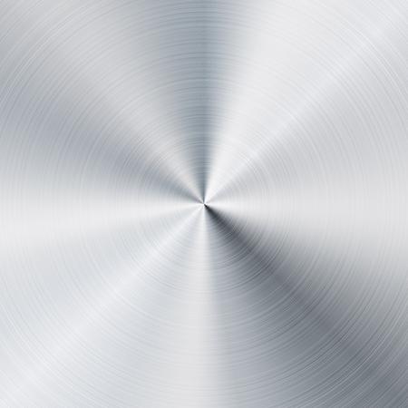 brushed aluminium: Circular brushed metal texture