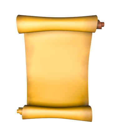 papyrus: Old parchment paper scroll - 3d illustration