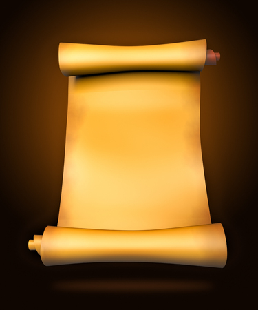 yellowish: Old parchment paper scroll - 3d illustration