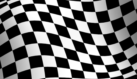 Checkered racing flag, wavy checker flag pattern photo