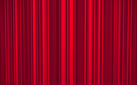 Red curtain on theater or cinema stage - 3d illustration illustration