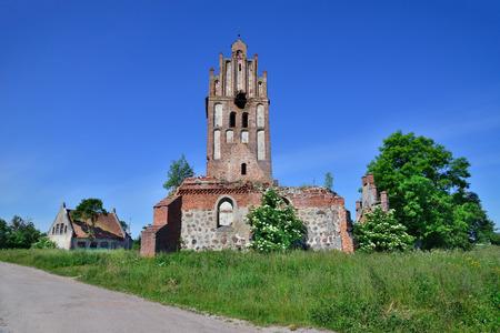 broken brick: Forgotten ruins of a Gothic church