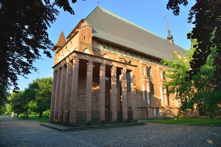 immanuel: KALININGRAD, RUSSIA - MAY 23, 2014  Tomb of the famous German philosopher Immanuel Kant in Kenigsberg cathedral