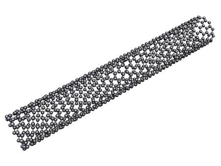nanotube: Carbon nanotube - isolated on white background