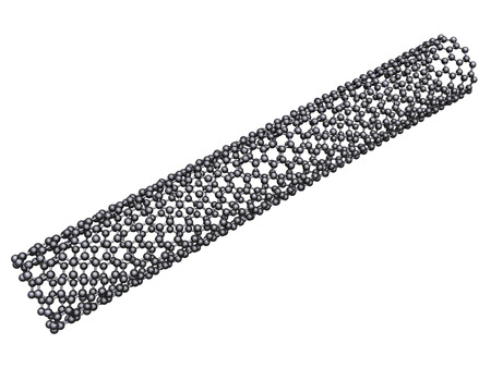 nanoparticle: Carbon nanotube - isolated on white background