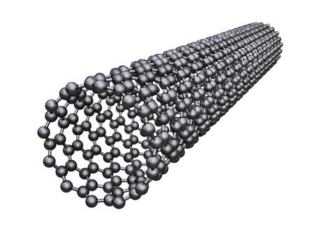 Carbon nanotube - isolated on white background