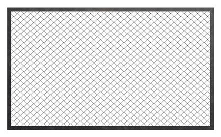 chained link: Wire fence barrier on white background, 3d illustration
