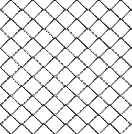 wire fence: Wire fence seamless pattern, 3d illustration Stock Photo