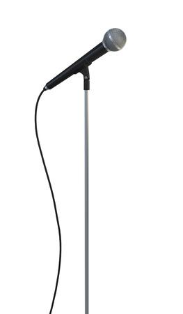 microfono antiguo: Retro micrófono - aislados en fondo blanco Foto de archivo