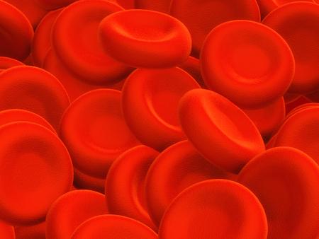 Illustration of human blood cells - 3d render illustration