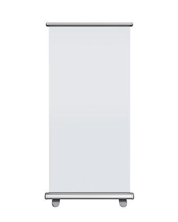 Blank Roll-up Banner Display auf weißem Hintergrund, Clipping-Pfad enthalten Standard-Bild - 30693040