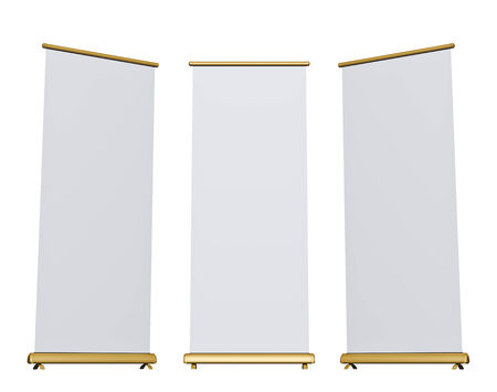 rollup: Blank roll-up banner display, isolated