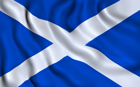 scottish flag: Bandiera della Scozia. Sant'Andrea Croce