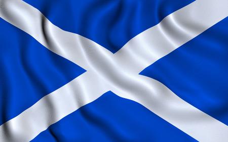 scotland flag: Flag of Scotland. Saint Andrew Cross Stock Photo
