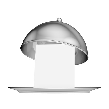 silver ware: Restaurant cloche with lid - isolated on white background