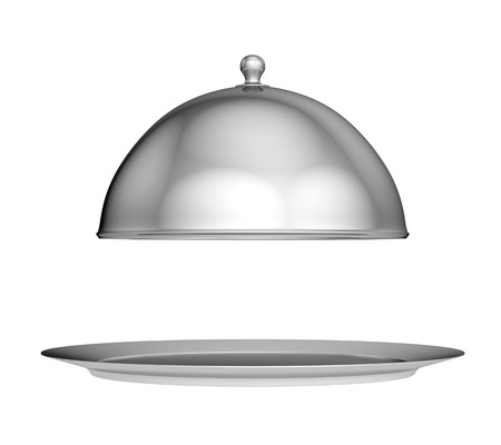Restaurant cloche with lid - isolated on white background photo