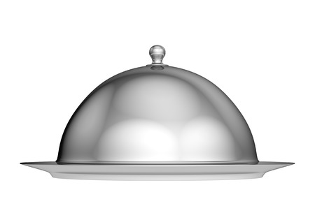 cloche: Restaurant cloche with lid - isolated on white background