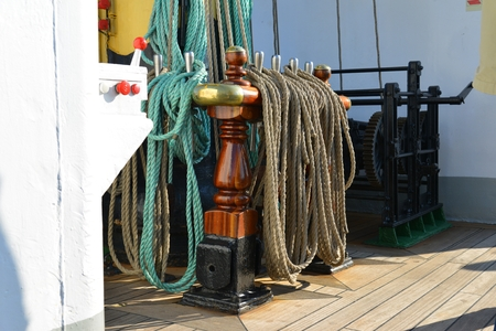 rigging: Rigging of an old sailing vessel