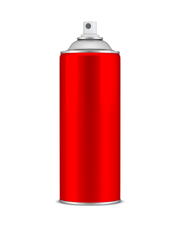Red spray can photo