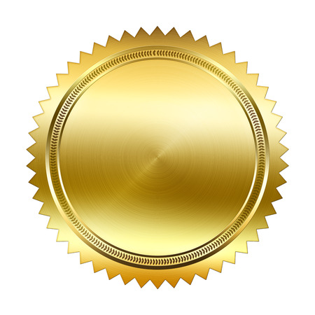 Golden Seal isolated on white background Banque d'images