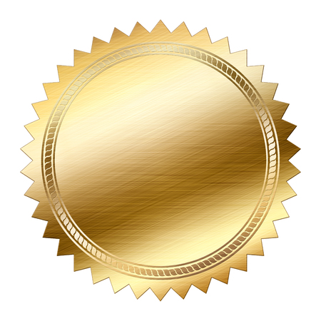 Golden Seal isolato su sfondo bianco Archivio Fotografico - 37404723
