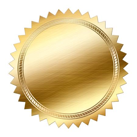Gouden zegel geïsoleerd op witte achtergrond