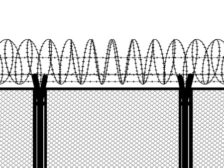 fence: Fence with a barbed wire