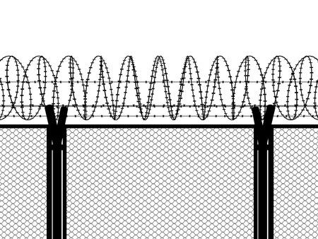 Zaun mit Stacheldraht Standard-Bild - 40327870