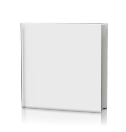 hardcover: Blank white book hardcover - isolated on white background Stock Photo